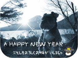 富士山をバックにしたパセリ、新年のご挨拶