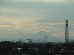 野田からみた富士山