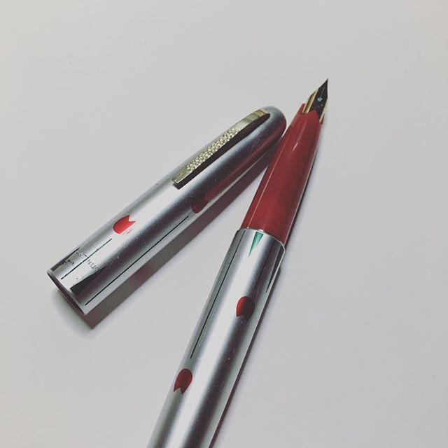 小学生の時、初めて買ってもらった万年筆。キレイにしました(^^)