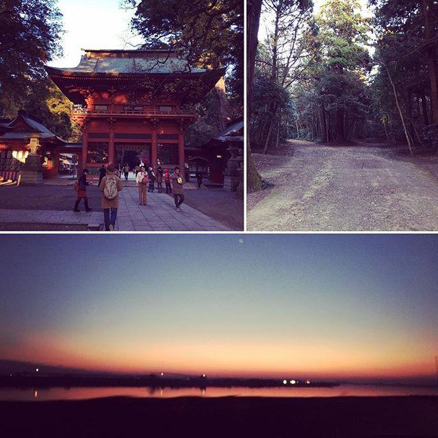 銚子のマルシェで@makka.akiさんから教えて頂いて鹿島神宮へ♪ 夕陽と夕焼けが感動的に美しかった。